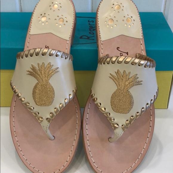b8e050a08c1 Authentic Jack Rogers Pineapple Sandals. Boutique